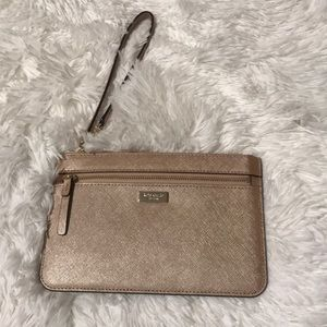 Like new Kate Spade rose gold wristlet